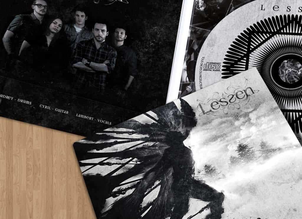 Visuel de l'album du groupe Lessen