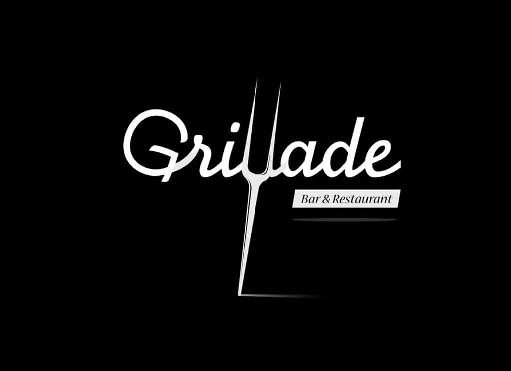 Logo Grillade - Blanc
