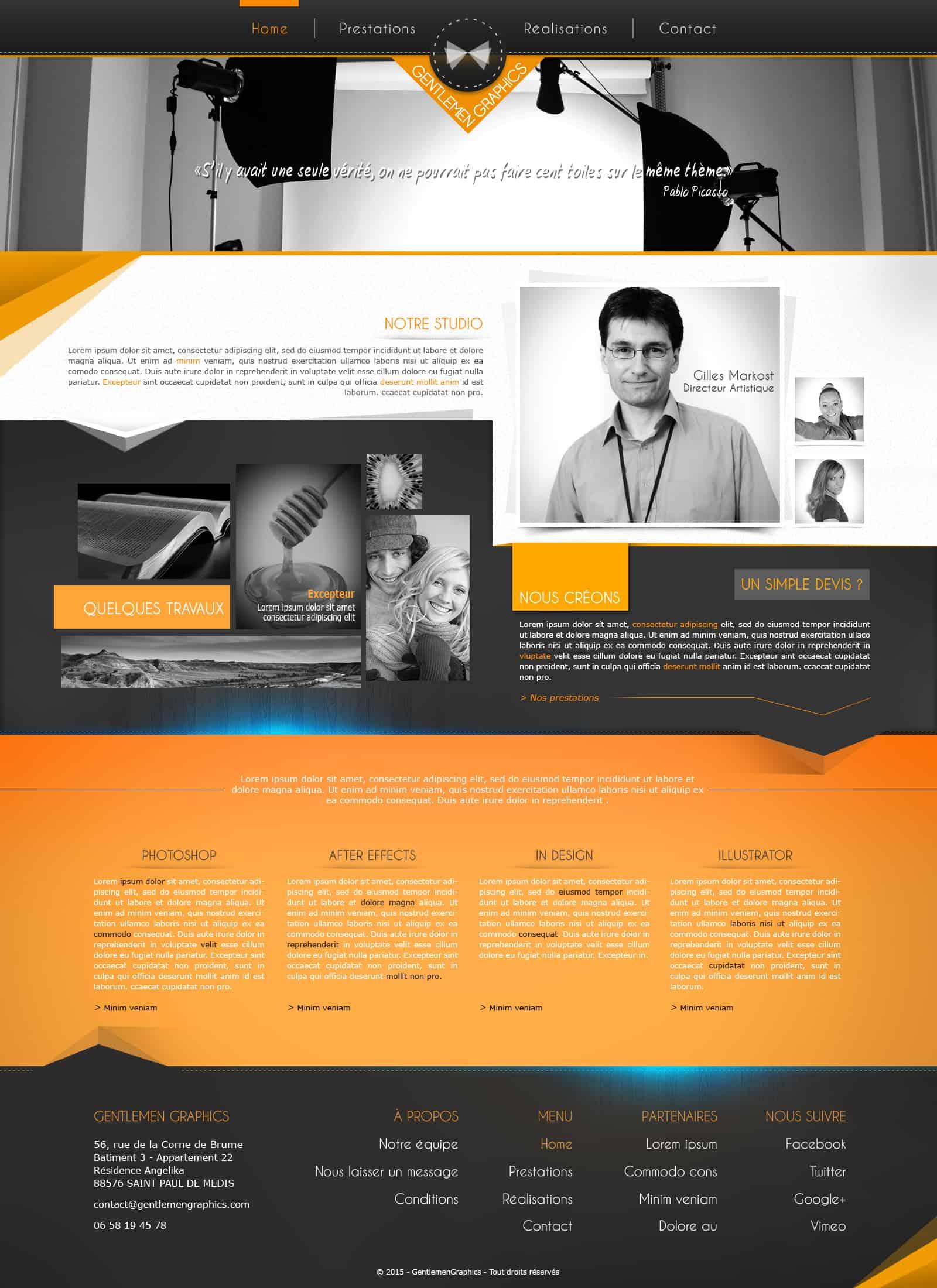 Site web (webdesign) - Gentlemen