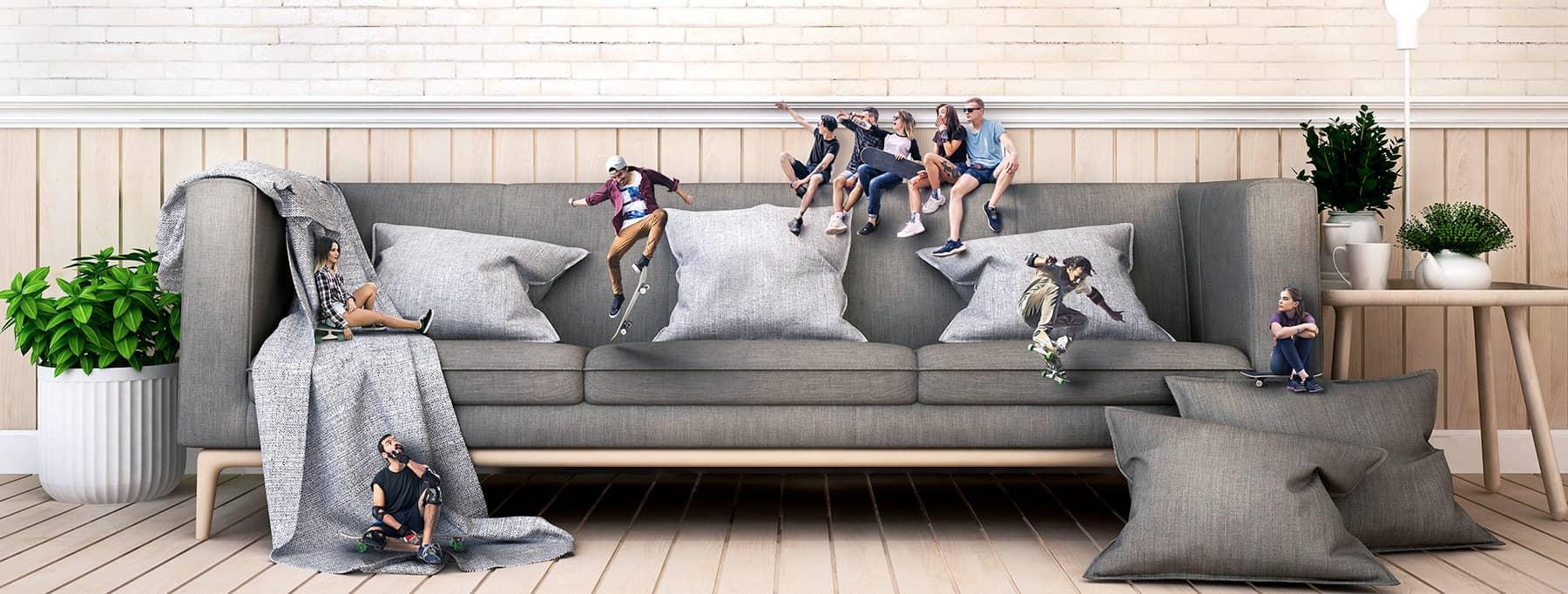 Canapé skate